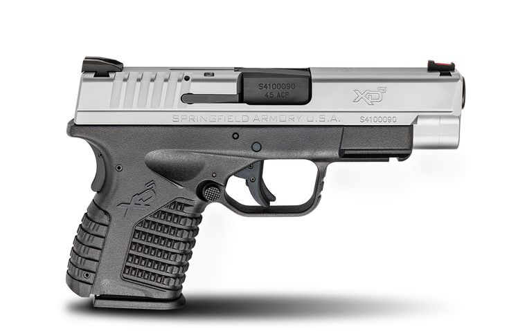 "XD-S® 4.0"" Single Stack .45ACP caliber #pistol in Bi-Tone from Springfield Armory® #firearm #handgun"