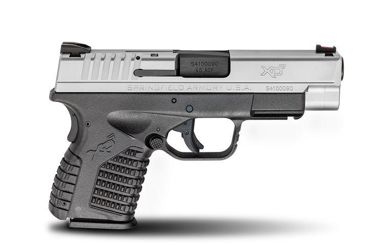 "XD-S® 4.0"" Single Stack .45ACP caliber #pistol in Bi-Tone from Springfield Armory® #firearm #handgun"
