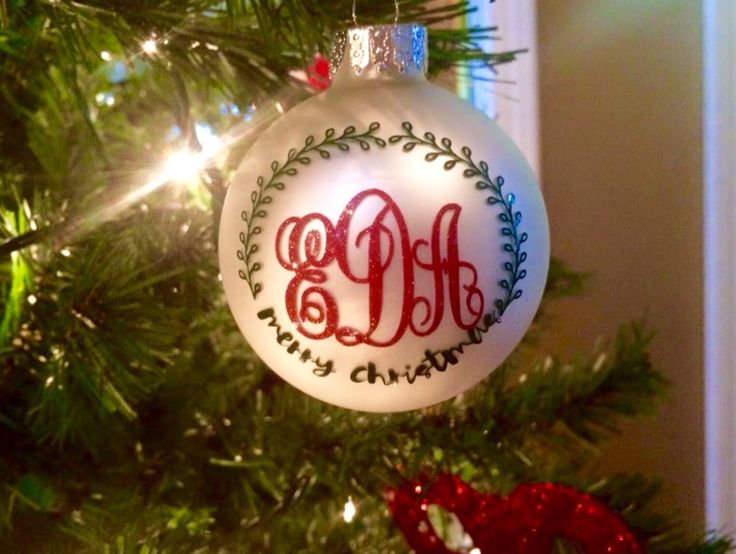 Monogrammed Ornaments, Christmas Gifts, Teacher's Gifts, Sorority Gifts by MyClassyCreations1 on Etsy