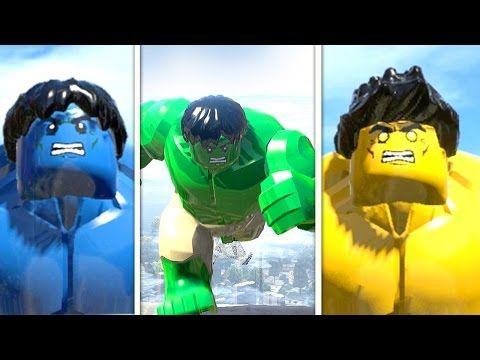 Blue Hulk vs Hulk vs Yellow Hulk LEGO Marvel Super Heroes