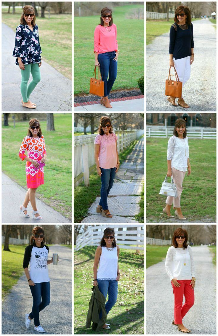 I love the navy and mint as well as the hot pink dress!!! 27 Days of Spring Fashion 2016 Recap - Grace & Beauty