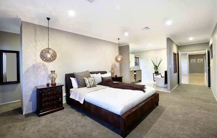 Spacious Master Bedroom Luxury Ensuite With Bathtub Double Doors Plush Carpet Beautiful