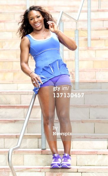 pictures of serena williams tennis outfits | Serena Williams Poses During A Photo Shoot