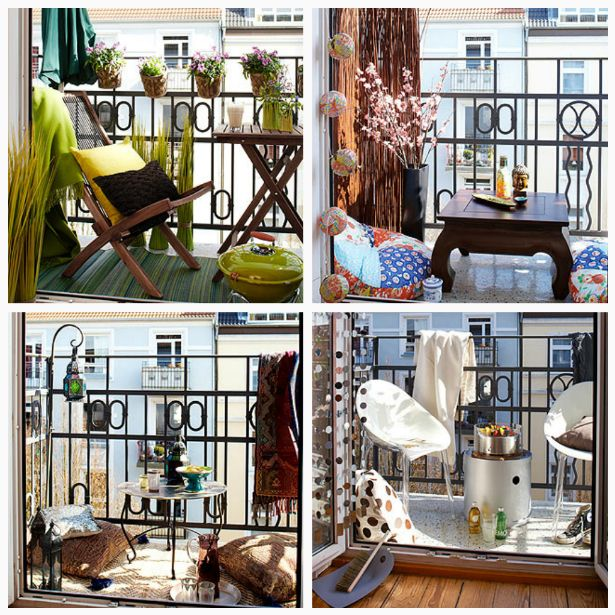 ♥ #dekorieren #ideen #inspiration #idee #balkon #terasse #small #balcony #design #diy #decorate #decorating #decoration #balconies #interior #apartment #balcony #Dachterrasse #Schweden #schwedisch #Balkon #Natur #Asia  #Orient #Lounge #Sweden
