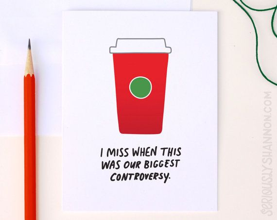 Funny Holiday Card Election card Red Cup by seriouslyshannon