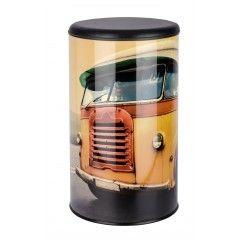 WENKO Wäschetruhe Vintage Bus, Badhocker