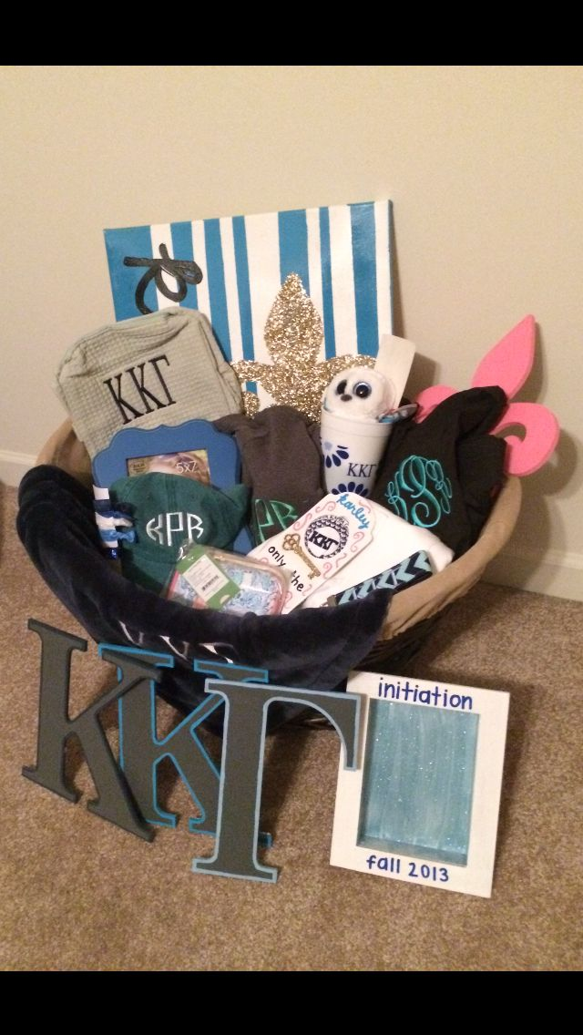 Initiation Basket #kkg #sororitygifts | Kappa Kappa Gamma | Pinterest