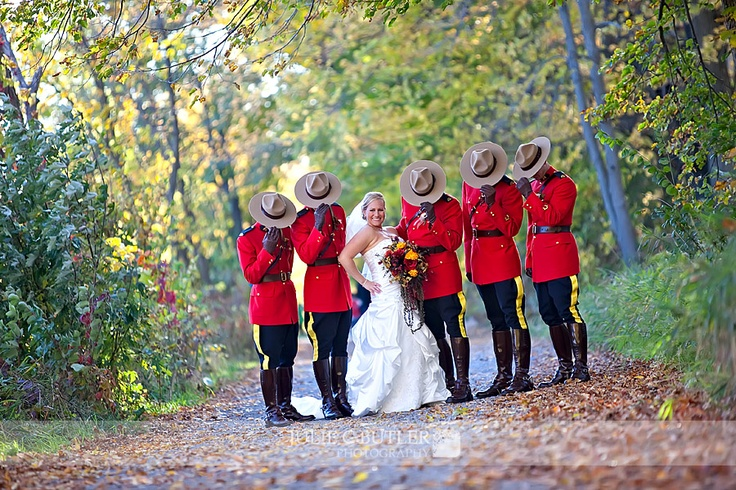 RCMP wedding. :) I LOVE it!