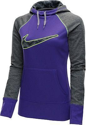 Nike Women's Workout Hoodie - When you're headed outdoors on chilly days, the @nikewomen Swoosh Out All Time printed hoodie keeps you covered. #nike http://www.FitnessGirlApparel.com