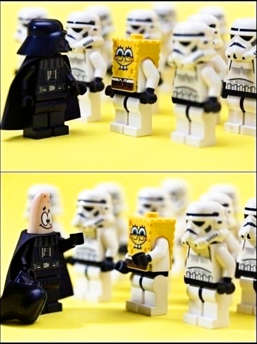 LEGO Minifigures Star Wars vs Sponge Bob