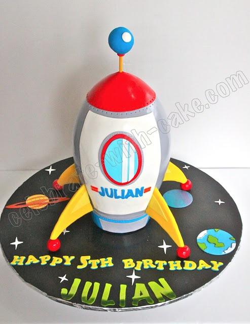 @Jennifer Branham  Celebrate with Cake!: Scupted Rocket Cake