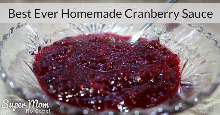 Homemade is so much better than store bought. Make your own Cranberry Sauce with my Best Ever Homemade Cranberry Sauce recipe.
