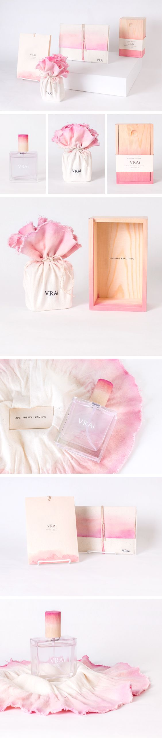 VRAi body fragrance packaging concept - cherry blossom scent.