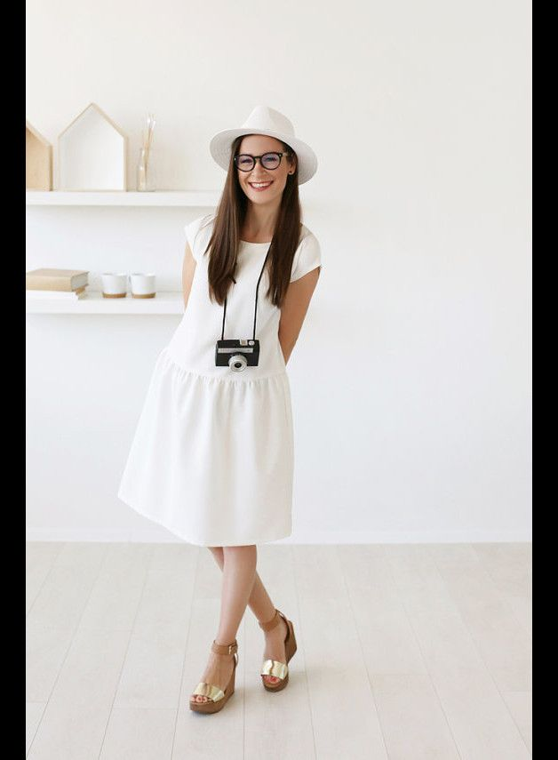 Other – Simple white dress – a unique product by mywhitecup on DaWanda