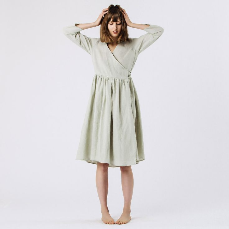 Wrap Linen dress from Faircloth, see Simple Modern Sewing book for a pattern like this. Make from light weight linen.