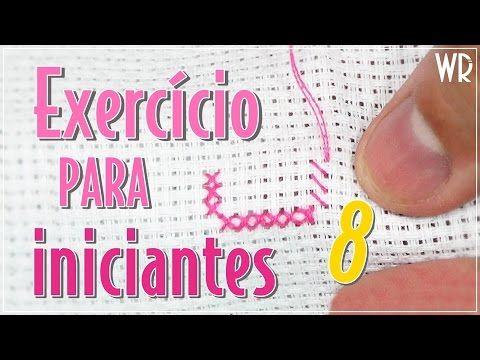 2 exercícios para INICIANTES #5 - Ponto Cruz avesso PERFEITO - YouTube