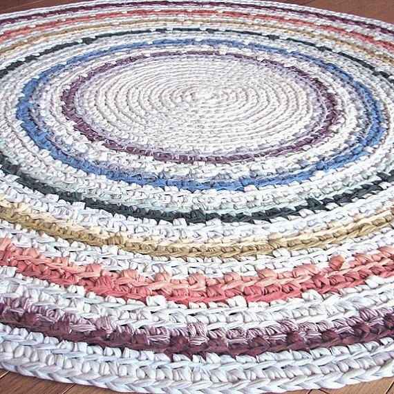 Crochet A Rag Rug Instructions: 17 Best Images About DIY Rugs On Pinterest