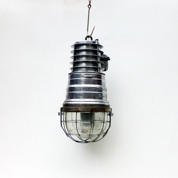Original extra large explosion proof pendant eow ships lighting original heavy duty fitting has been