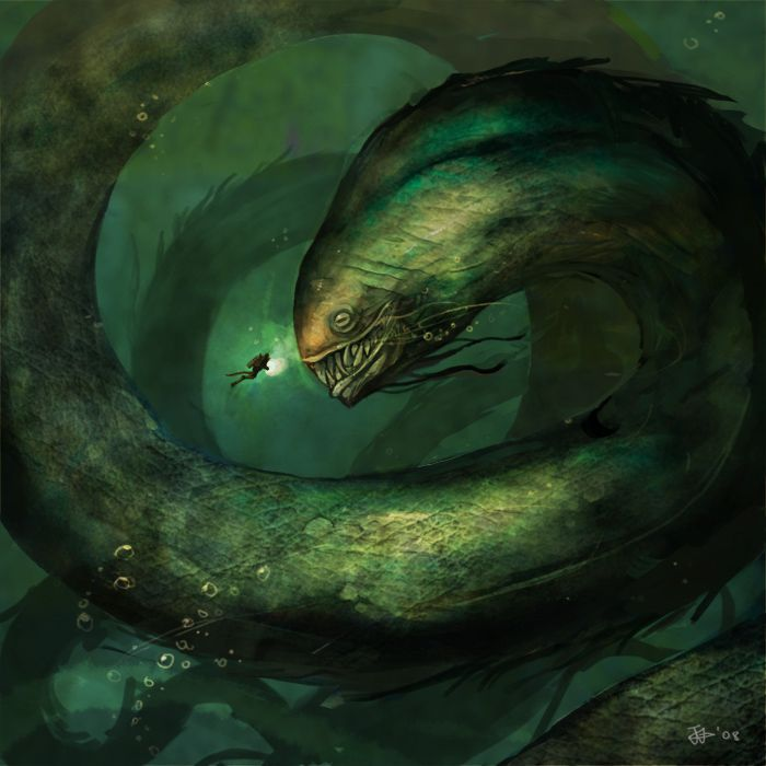 This really reminds me of the oily serpents from the Death Gate novels.