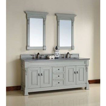 James Martin Brookfield (double) 72-Inch Urban Gray Transitional Bathroom Vanity With Top Options
