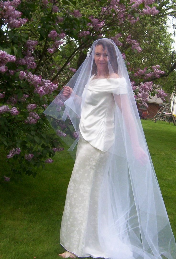 Drop Veil Royal Cathedral Mantilla With Cut Edge By VeilsByRoxanne On Etsy