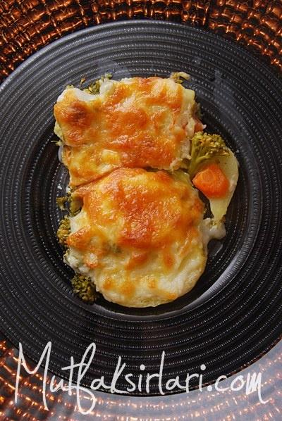 fırında beşamel soslu sebze