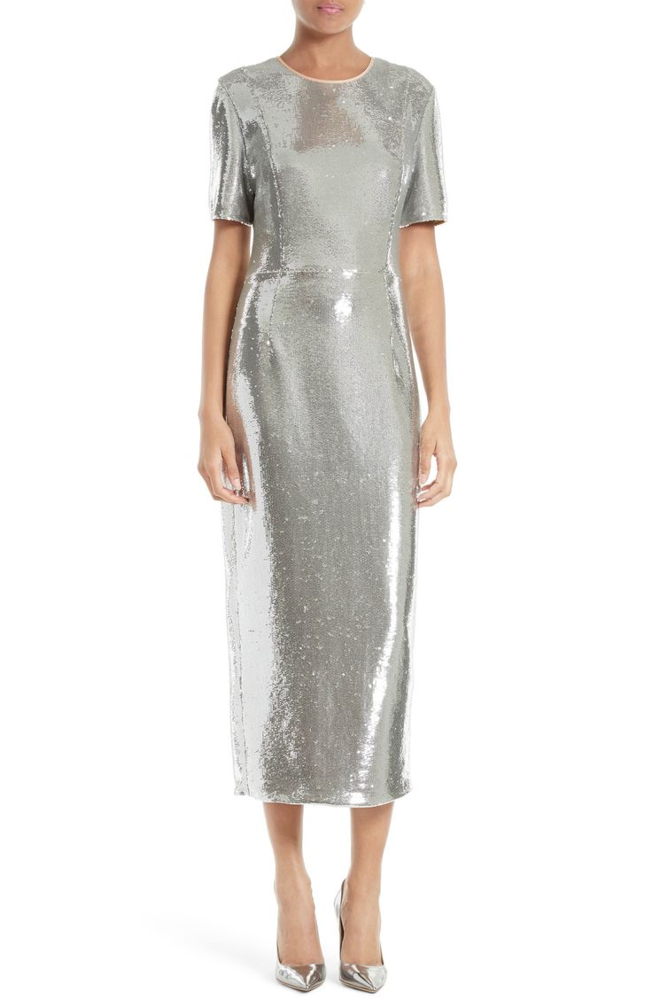 Main Image - Diane von Furstenberg Sequin Midi Dress