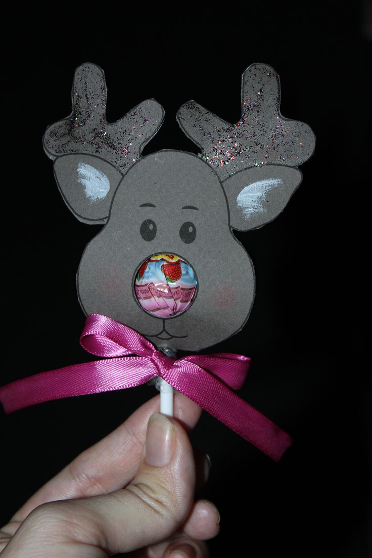 Mini Reindeer Lollipop Template by Thomasina.
