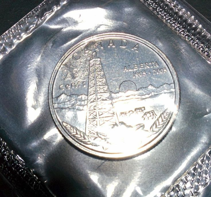 2005 Alberta 25 Cent Error In Canada Special Edition Proof Like Uncirculated Set