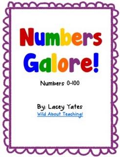Free on TPT Kindergarten: Numbers Galore