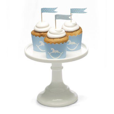 Uber cute Rocking Horse cupcake baking cases in beautiful sky blue.  We have also made these in pretty pink too!