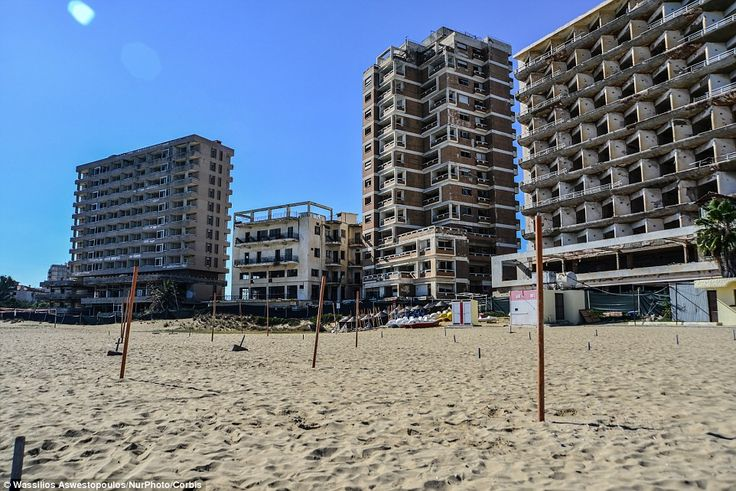 The shores of Varosha were once graced by glamorous film stars such as Elizabeth Taylor and Brigitte Bardot, but are now deserted