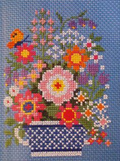 flowers stitching Cross stitch