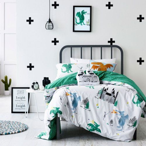 Adairs Kids A Knight's Tale Cot Quilt Cover Set, cot bedlinen, cot quilt covers