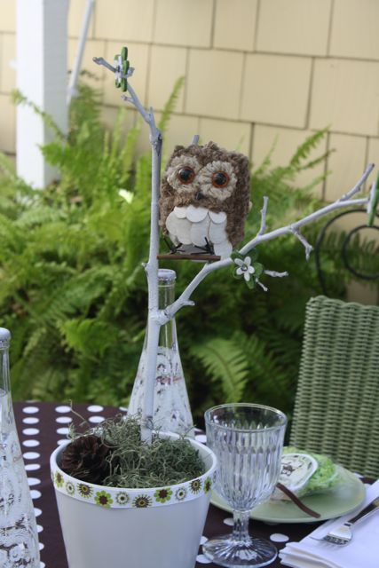 Owl themed baby shower centerpieces owls decor and tables - Owl themed bathroom decor ...