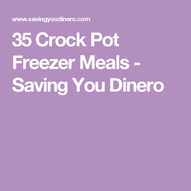 35 Crock Pot Freezer Meals - Saving You Dinero