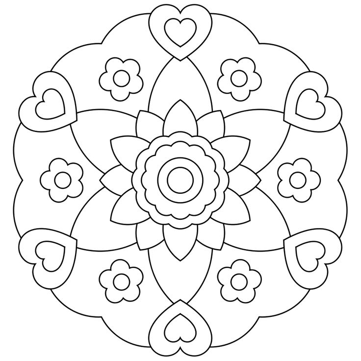 Mandalas Are One Of Our Favorite Things To Color Kids Can Them Too We Have Some More Simple For