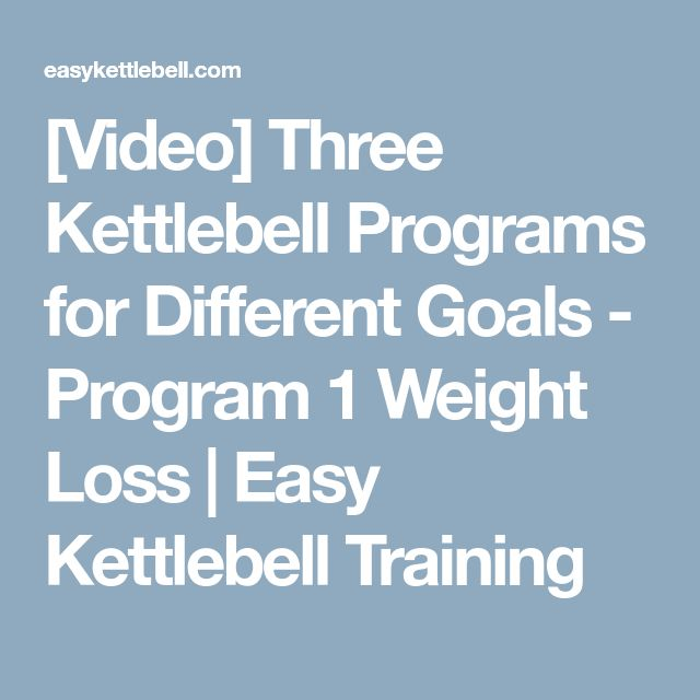 [Video] Three Kettlebell Programs for Different Goals - Program 1 Weight Loss   Easy Kettlebell Training