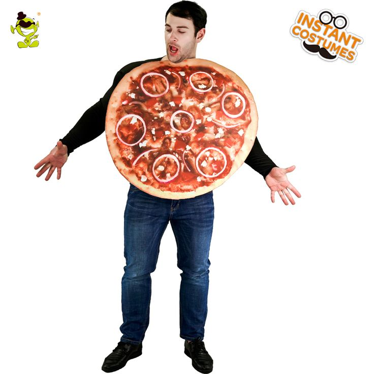 New Adult Male Pizza Costume Funny Sandwitch Food Cosplay Carnival Party For Performance Show Food Costumes For Adults #Affiliate