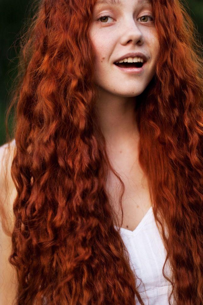 beautiful red hair. sure