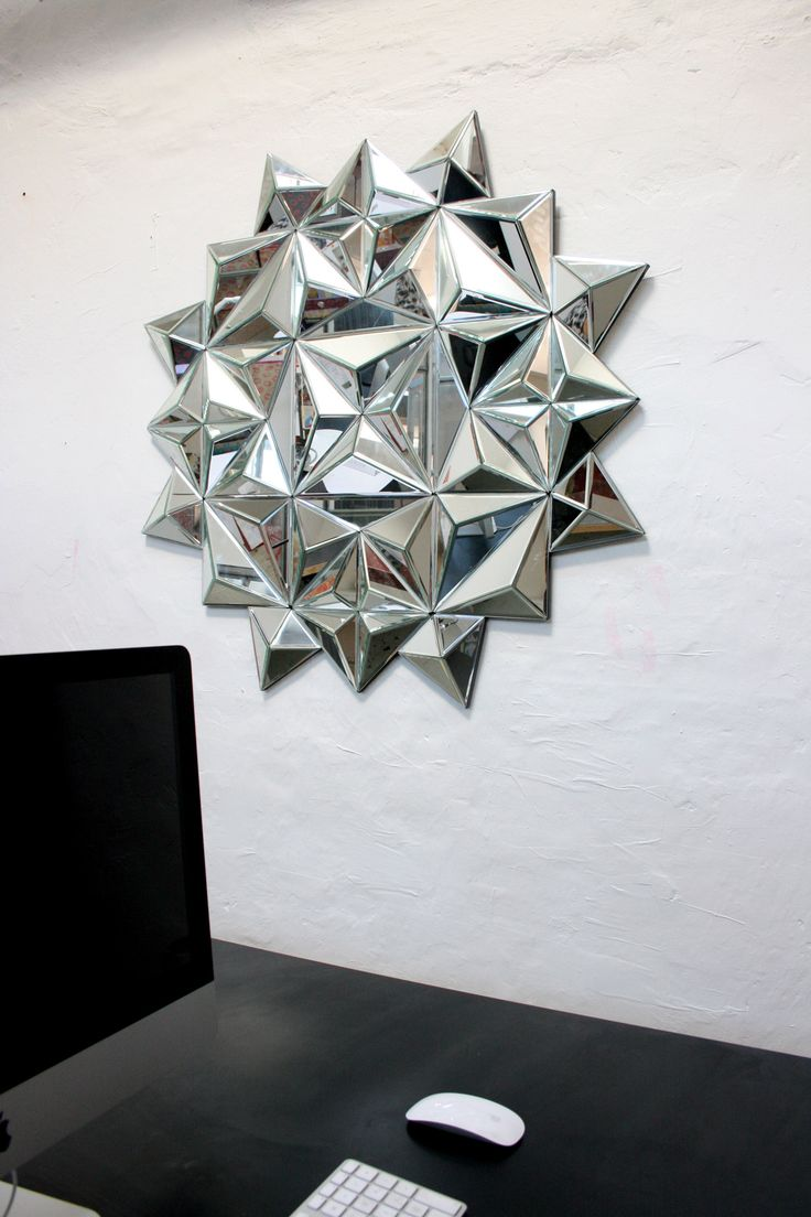 BRIGHT STAR SILVER mirror by Hugau & Larsson