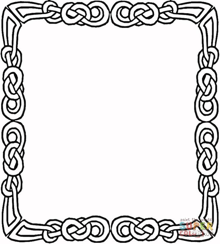 celtic frame coloring page supercoloringcom printable craftsfree