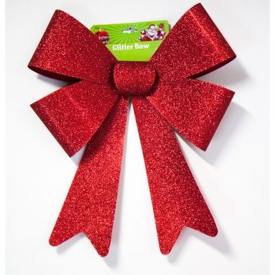 LARGE GLITTER BOW ASSORTED COLOURS