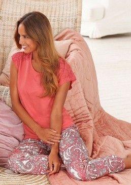 Luxusní pyžamo s jemnou krajkovou vsadkou, s.Oliver #avendro #avendrocz #avendro_cz #fashion #soliver
