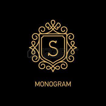 monogram s: Elegante modello di progettazione monogramma con la lettera illustrazione vettoriale S.