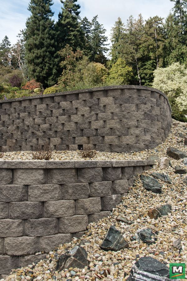 Turn Sloped Terrain Into A Stunning Spectacle With Clifton Wall Beveled Retaining Blocks Lighter Than Other Patio Blocks Retaining Wall Garden Retaining Wall
