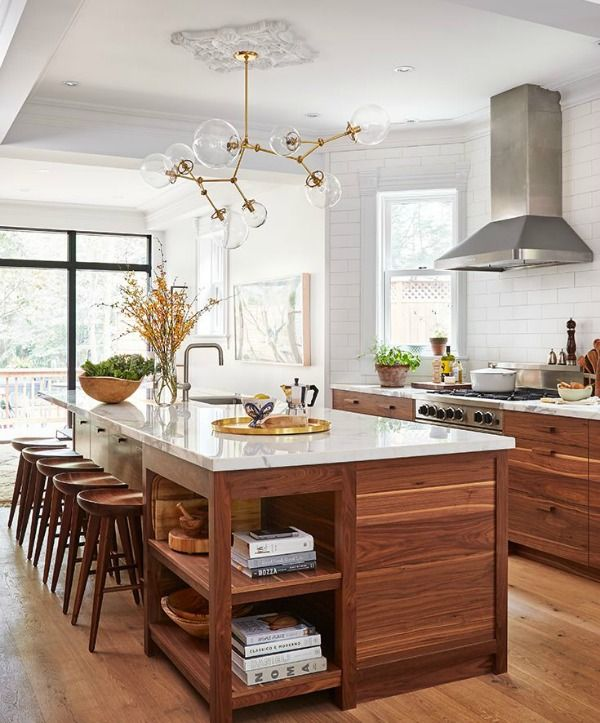 my latest design crush samantha sacks housetweaking bloglovin walnut cabinetswood kitchen cabinetsisland - Kitchen Cabinets Islands Ideas