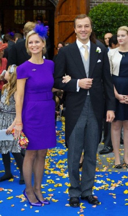 Princess Caroline de Bourbon de Parma Brenninkmeijer and Albert Brenninkmeijer after the wedding of her brother Prince Jaime de Bourbon de Parma to Viktória Cservenyák in Apeldoorn, 05.10.13