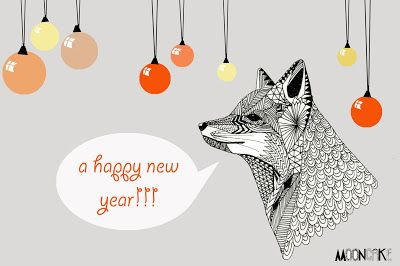 new years fox print