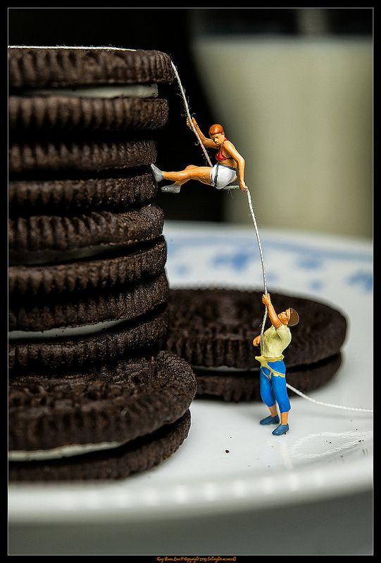Cookies and Milk | Flickr - Miniature people art and macro lens photography